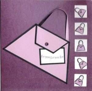 Handbag Card - handmade with raised embellishment