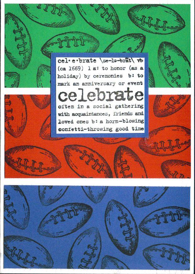 Rugby Balls - Handmade card rugby balls design