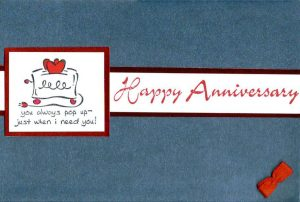 Fun Anniversary Card - made by hand with love